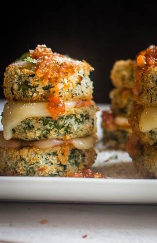 Zucchini Parmesan Nepoleon Stacks