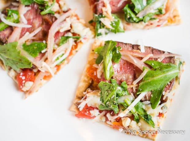 Steak Bruschetta Flatbread Pizza