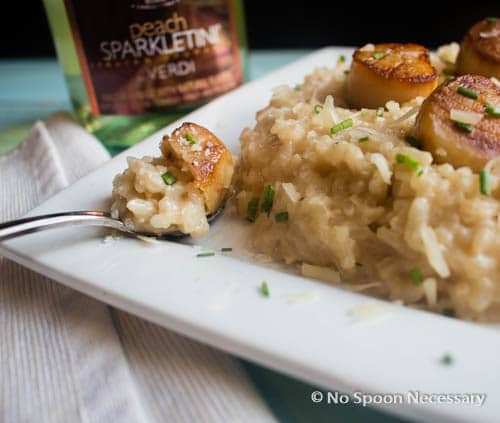 Baked Champagne Risotto with Scallops