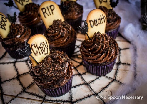 Chocolate Tombstone Cupcakes-283