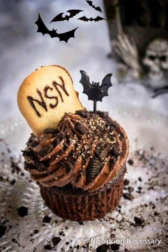 Chocolate Tombstone Cupcakes-325