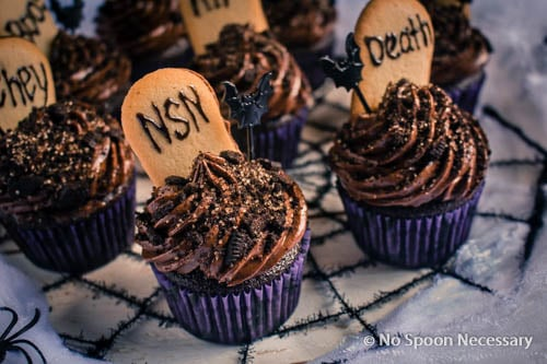 Chocolate Tombstone Cupcakes-73