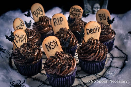 Chocolate Tombstone Cupcakes-98
