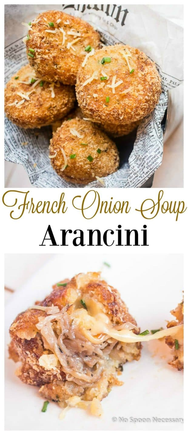 French Onion Soup Arancini long pin
