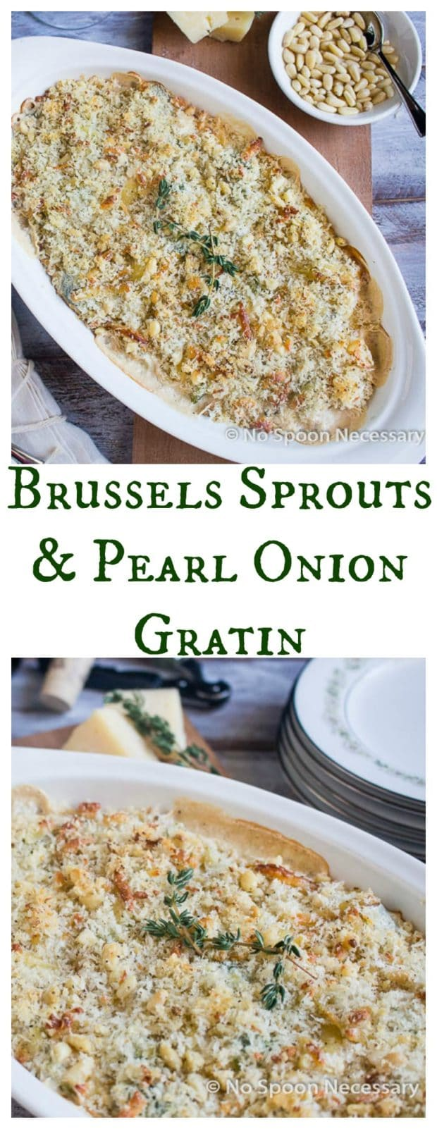 Brussels Sprouts & Pearl Onion Gratin