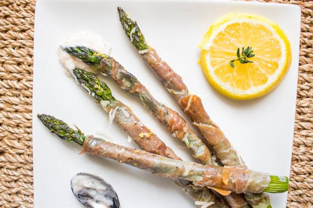 Proscuitto Wrapped Asparagus-203
