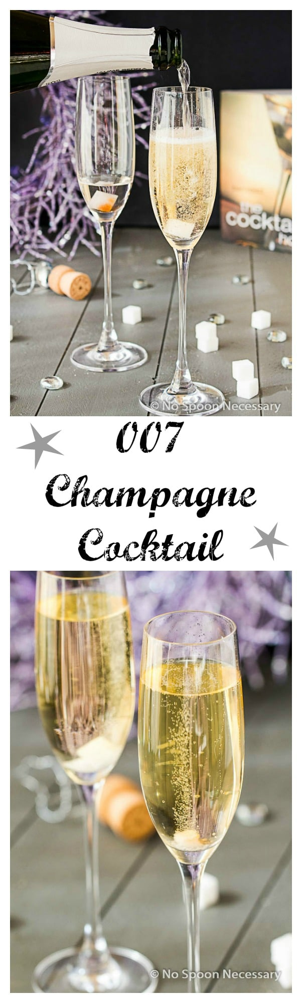 007 Champagne Cocktail long pin