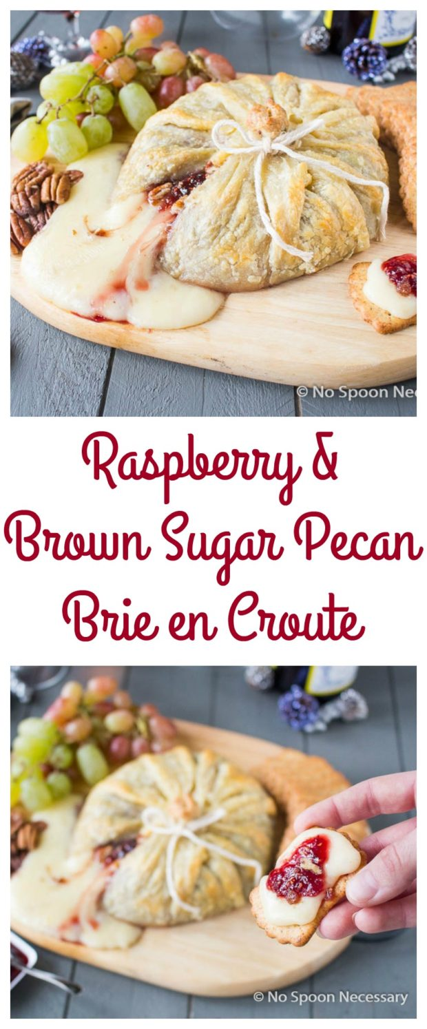Raspberry & Brown Sugar Pecan Brie en Croute