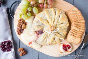 Raspberry Pecan Brie en Croute-19