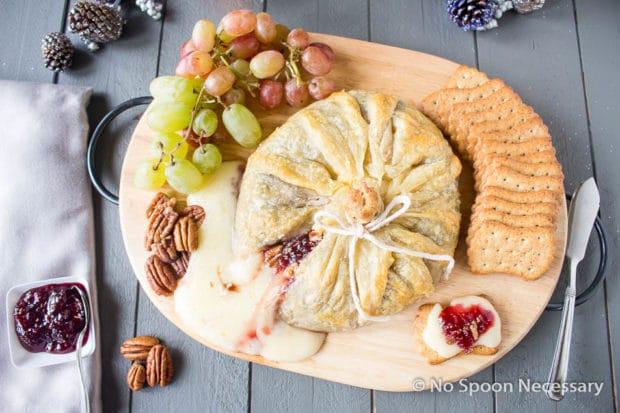 Raspberry Pecan Brie en Croute-53