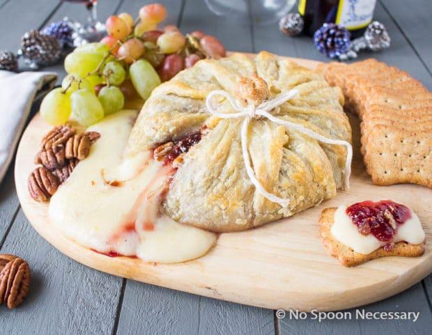 Raspberry Pecan Brie en Croute-59