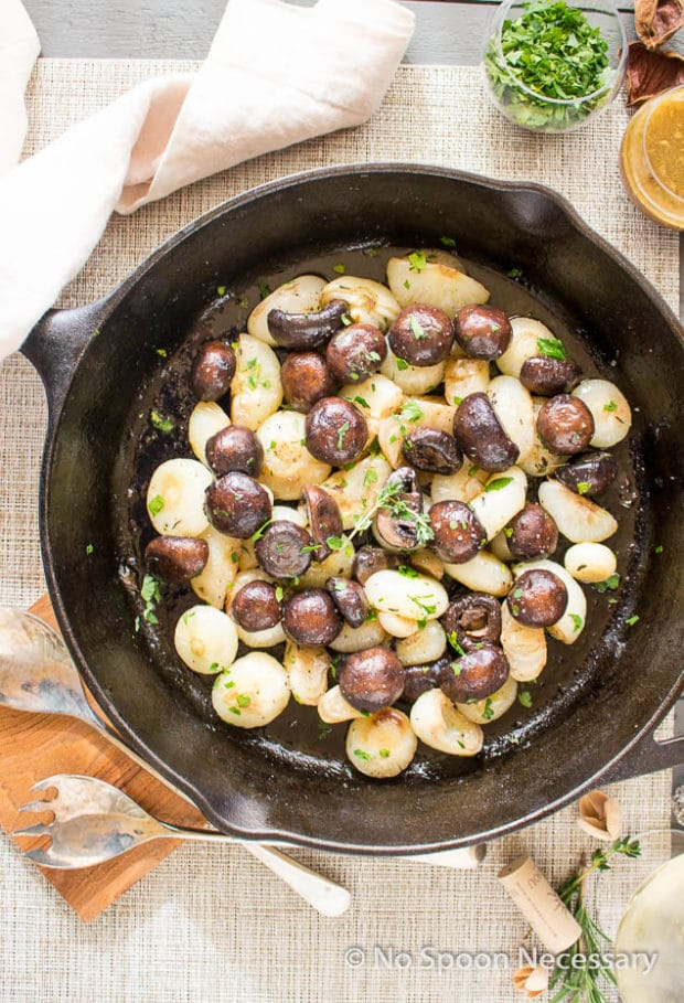 Roasted Mushrooms & Onions with wine butter sauce-36
