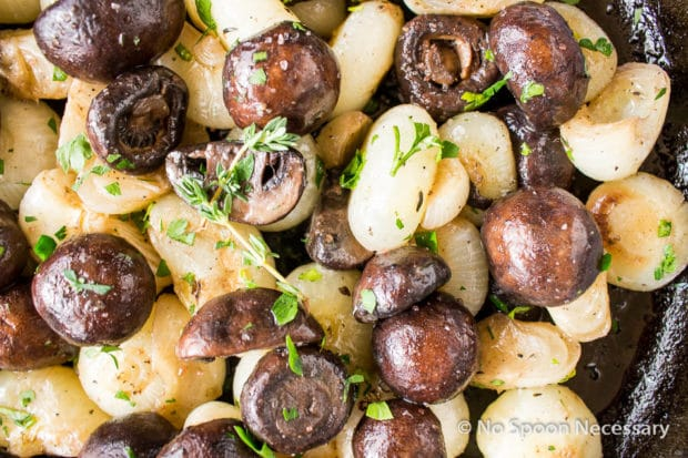 Roasted Mushrooms & Onions with wine butter sauce-47