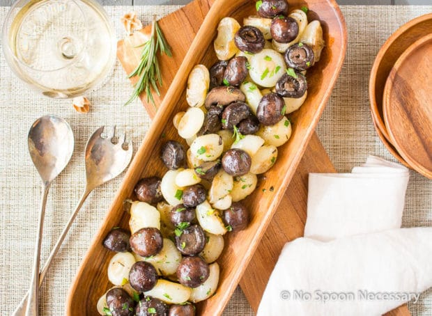 Roasted Mushrooms & Onions with wine butter sauce-77