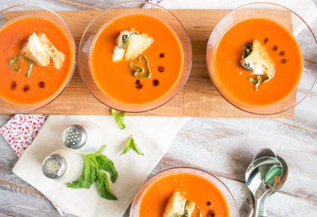 Tomato Basil Soup with caprese crutons-118