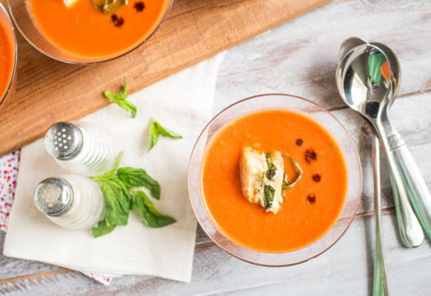 Tomato Basil Soup with caprese crutons-121