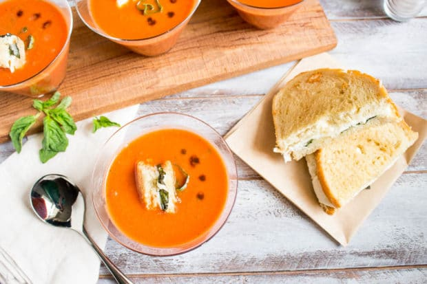 Tomato Basil Soup with caprese crutons-206