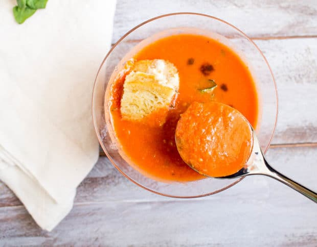 Tomato Basil Soup with caprese crutons-231