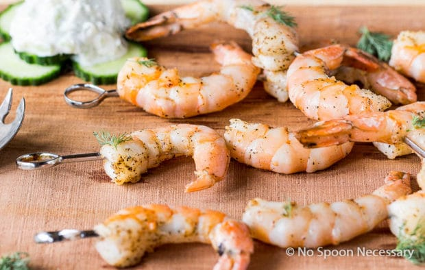 Shrimp skewers with tzatziki-36