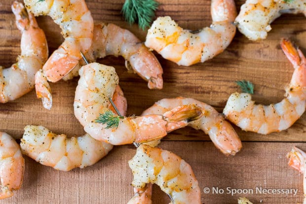 Shrimp skewers with tzatziki-9