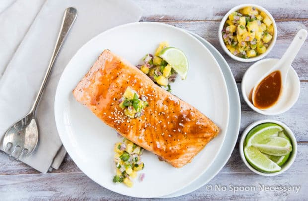 Sweet Sriracha Glazed Salmon w Pineapply Salsa-22