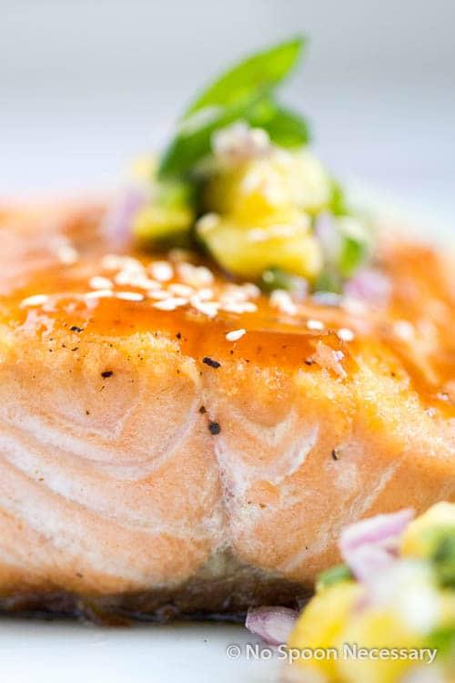 Sweet Sriracha Glazed Salmon w Pineapply Salsa-82