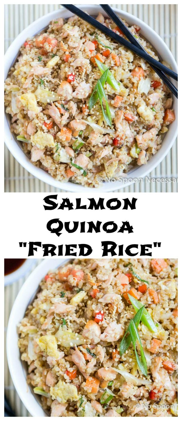 salmon Quinoa Fried Rice long pin