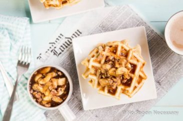 Apple Cinnamon Waffles with Bourbon Maple Syrup - No Spoon ...