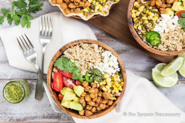 Chickpea Cauliflower Burrito Bowl-49