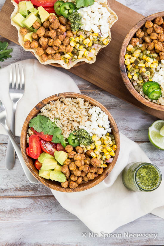 Chickpea Cauliflower Burrito Bowl-63