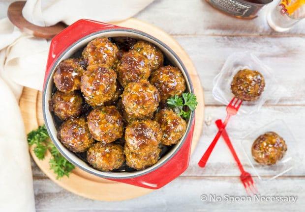 Jack Daniels Glazed Meatballs-127