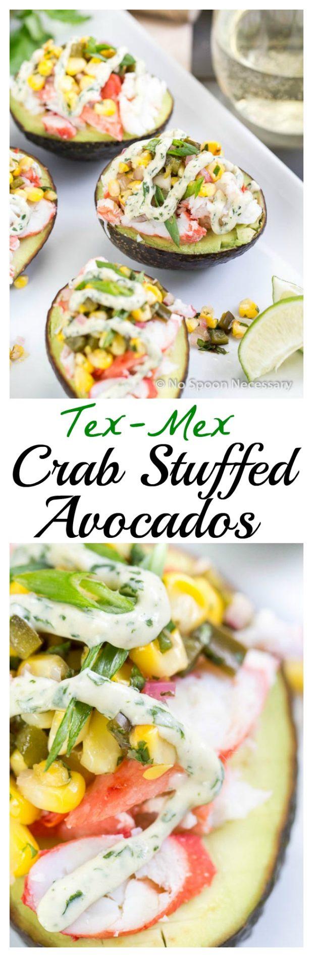 Tex Mex Crab Stuffed Avocados