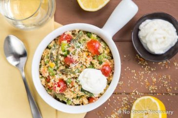 Spring Couscous Primavera with Whipped Lemon Ricotta