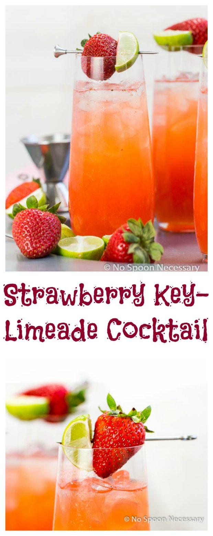 Strawberry Key-Limeade Cocktail