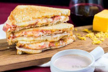 "Wine & Turkey Club Grilled Cheese Sandwich {with ""Au Jus""}"