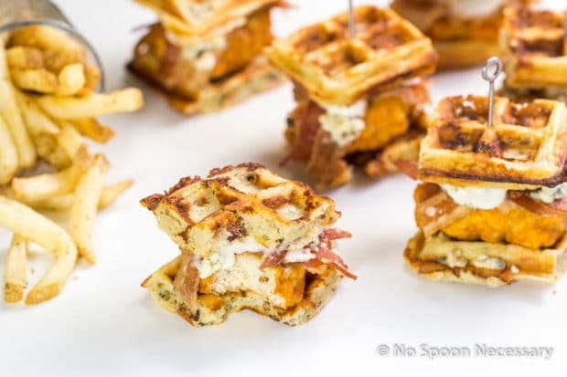 Buffalo Chicken & Blue Cheese-Bacon Waffle Club Sliders ...
