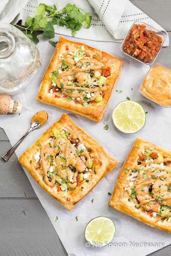 Margarita Shrimp Taco Tarts {with Creamy Chipotle Sauce} - No Spoon ...