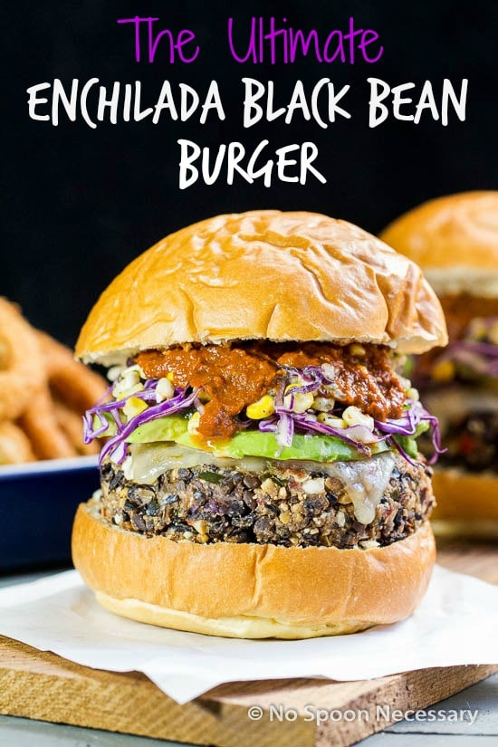 Enchilada Black Bean Burgers {with Roasted Corn Slaw} - No Spoon ...