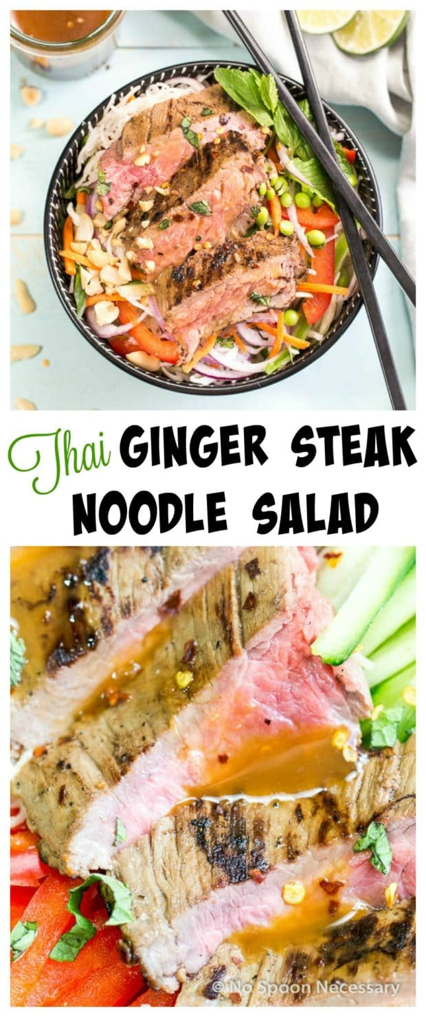 Thai Steak Noodle Salad Long Pin