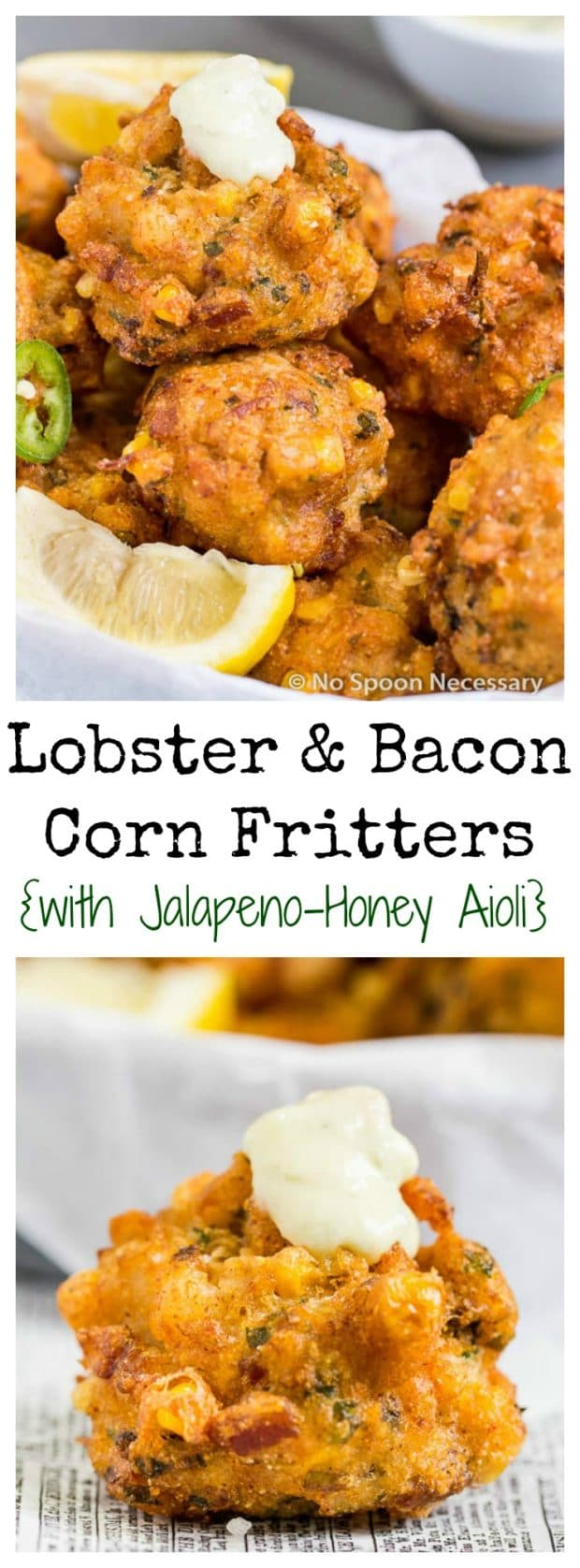Lobster & Bacon Corn Fritters
