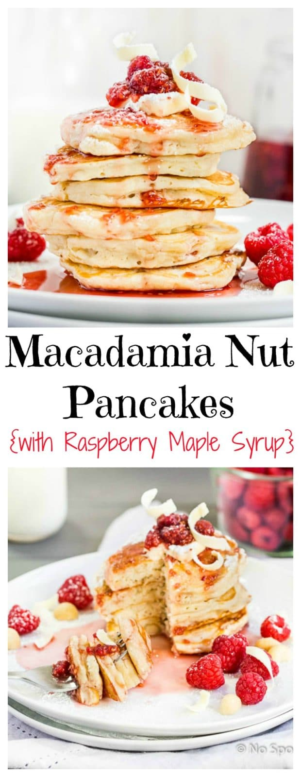 Macadamia Nut Pancakes with Raspberry Maple Syrup