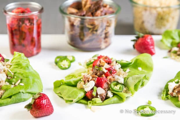 Strawberry Chicken Lettuce Wraps-152