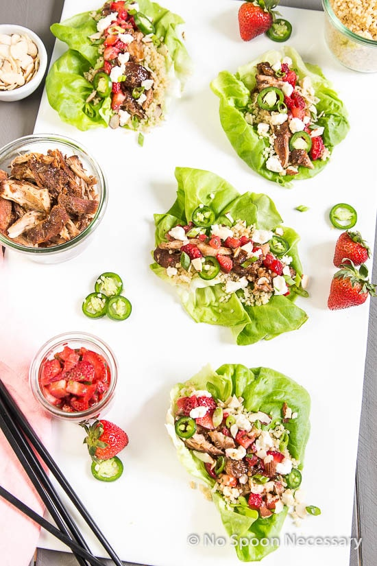 Strawberry Chicken Lettuce Wraps-98