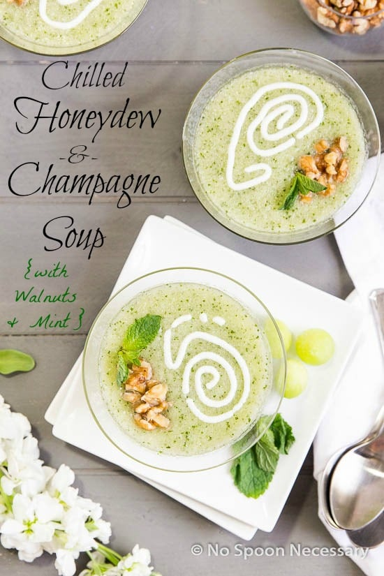 Chilled Honeydew & Champagne Soup