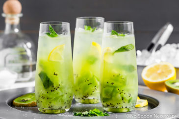 Tequila Kiwi Smash Cocktail
