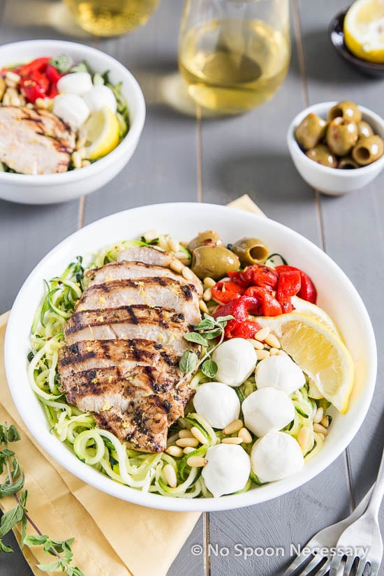 Oregano chicken Zoodle Bowls-52