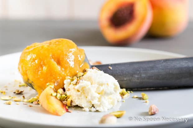 Bourbon Poached Peach Sorbet {with Whipped Mascarpone & Crushed ...