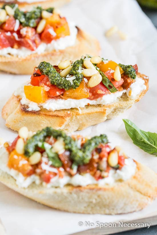 Tomato Burrata Crotini-49