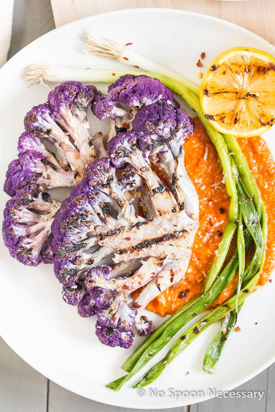 Grilled Cauliflower & Scallions with Romesco-113