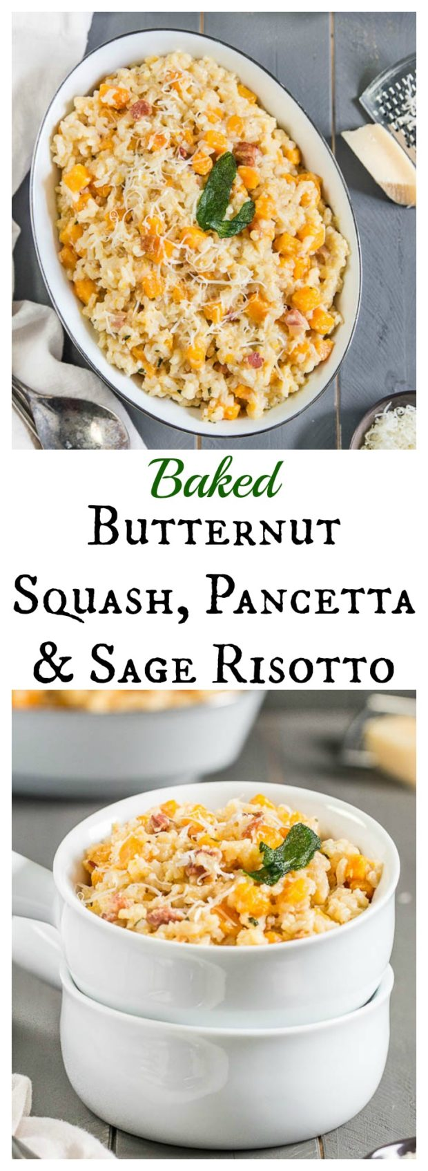 Baked Butternut Squash, Pancetta & Sage Risotto